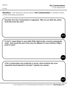 The Candymakers Book Club (Comparing and Contrasting ), 5th Grade (CCSS)