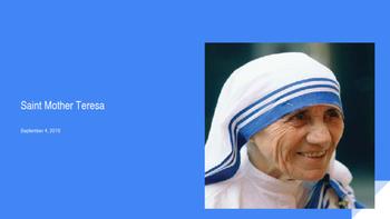 The Canonization of Saint Mother Teresa