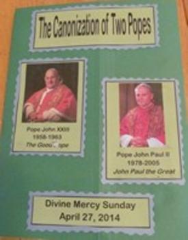 The Canonization of Two Popes Faith Folder Catholic Lapbook