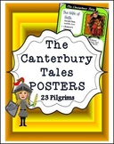 THE CANTERBURY TALES: 23 PILGRIMS POSTERS