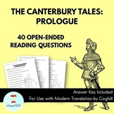 The Canterbury Tales: Prologue - Reading Homework Questions