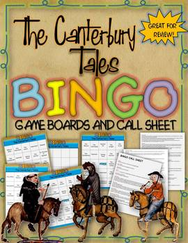 THE CANTERBURY TALES BINGO: INSTRUCTIONS, GAME BOARDS AND