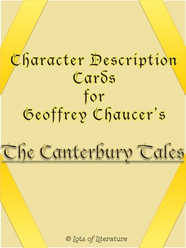 The Canterbury Tales Character Cards and Descriptions