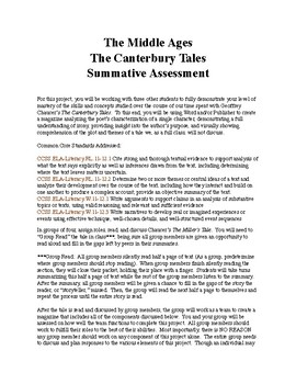 The Canterbury Tales:  Creative Summative Assessment