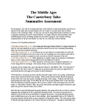 The Canterbury Tales:  Creative Summative Assessment