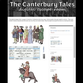 The Canterbury Tales Digital Breakout Escape Room Game