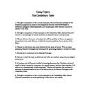 The Canterbury Tales: Essay Topics