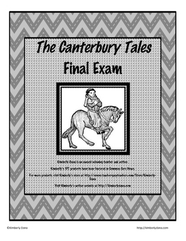 The Canterbury Tales Final Exam Test