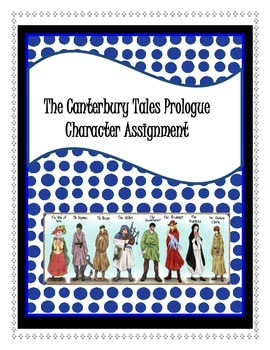 The Canterbury Tales Prologue Character Activity