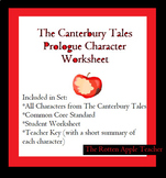 The Canterbury Tales Prologue Character Worksheet