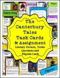 The Canterbury Tales Task Cards and Student Assignment