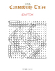 The Canterbury Tales Word Search Puzzle