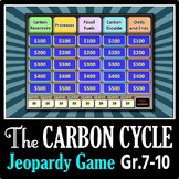 The Carbon Cycle - Jeopardy PowerPoint Game {Editable}