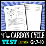 The Carbon Cycle - Test {Editable}