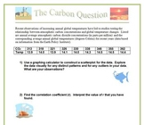 The Carbon Question: A Correlation and Regression Project