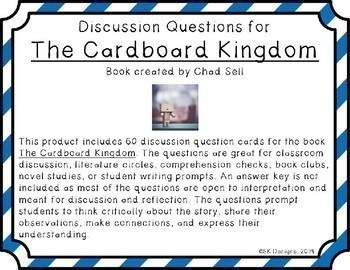 The Cardboard Kingdom Discussion Question Cards