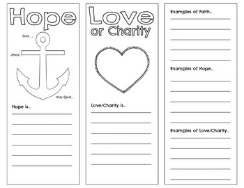 The Cardinal Virtues of Faith, Hope, and Love Tri-fold