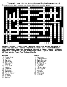 The Caribbean Islands, Countries and Territories Puzzles