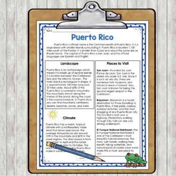 Puerto Rico for Third Grade