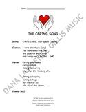 The Caring Song Companion Lyrics Sheet
