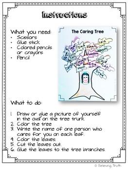 The Caring Tree FREEBIE