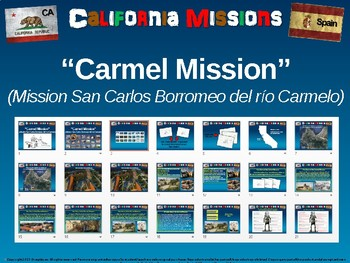 The Carmel Mission - 21 engaging slides with graphic organizers to follow along