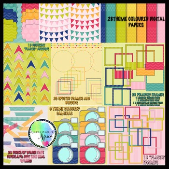 The Carnaval TpT Seller's Bundle- Digital Paper, Clipart, Accents, Frames...