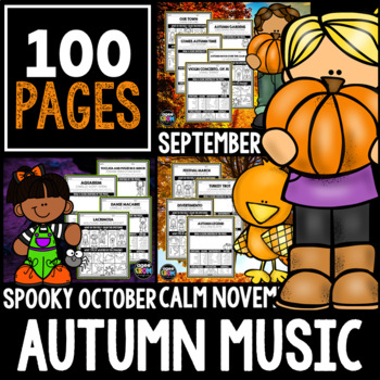 Hello, Autumn Listening Bundle!  September, October, November, Halloween
