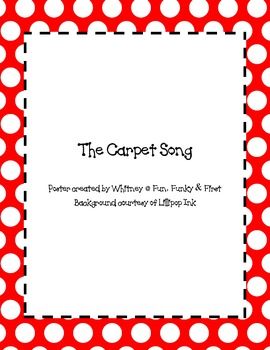 The Carpet Song Poster