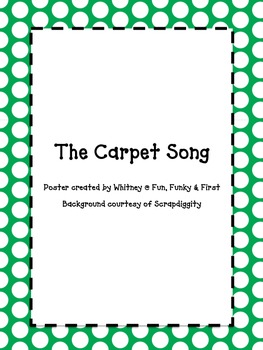 The Carpet Song - green polka dot