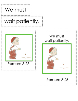 The Carrot Seed Bible Verse Printable (Romans 8:25)