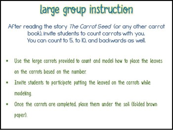 The Carrot Seed Craftivity