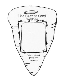 """The Carrot Seed """"Seed House"""" Germination Craftivity"""