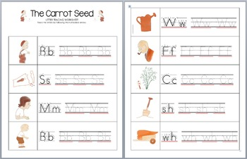 The Carrot Seed Letter Tracing Worksheets
