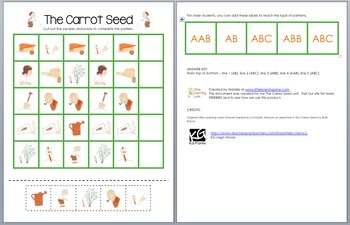 The Carrot Seed Patterns (Green Edition)