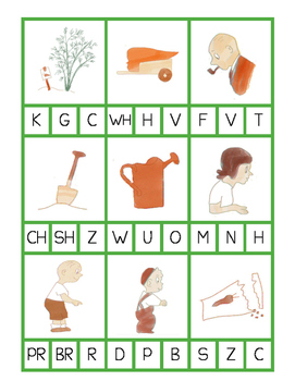 The Carrot Seed Phonics Clip Cards