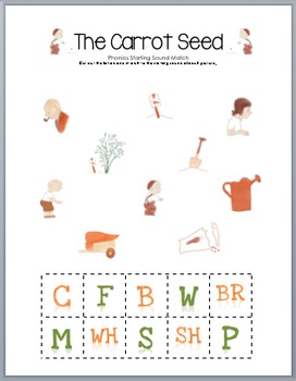 The Carrot Seed Phonics Match