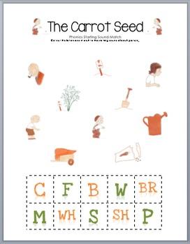 The Carrot Seed Phonics Match