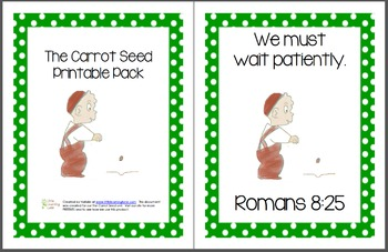 picture about Carrot Printable referred to as The Carrot Seed Printable Pack
