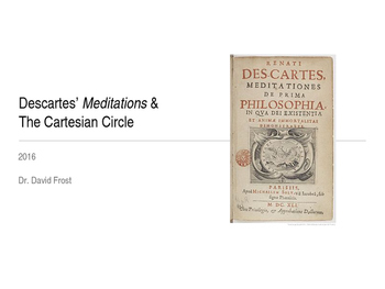 The Cartesian Circle Refuted - Bundle Powerpoint & Lecture