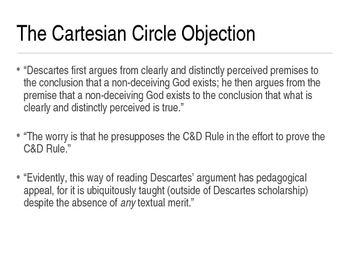 The Cartesian Circle Refuted - Powerpoint Presentation from Dr Frost