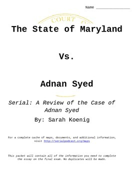 The Case of Adnan Syed