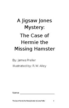 The Case of Hermie the Missing Hamster student booklet