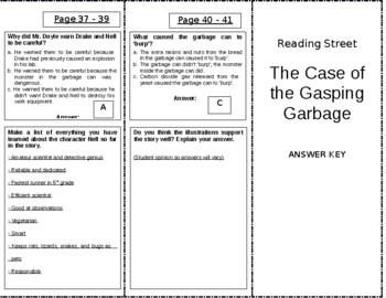 The Case of the Gasping Garbage - 4th Grade Reading Street