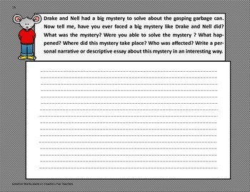 The Case of the Gasping Garbage - 4th Grade-Trifolds + Activities
