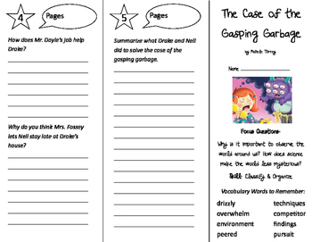 The Case of the Gasping Garbage Trifold - Imagine It 4th Grade Unit 4 Week 3