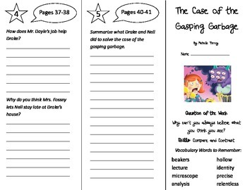 The Case of the Gasping Garbage Trifold - Reading Street 4th Grade Unit 4 Week 1