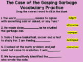 The Case of the Gasping Garbage Vocabulary Practice- Distance Learning