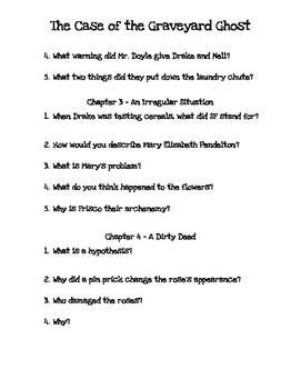 The Case of the Graveyard Ghost Questions