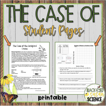 The Case of the Junkyard Crane (Electromagnetism) NGSS ms-ps2-3